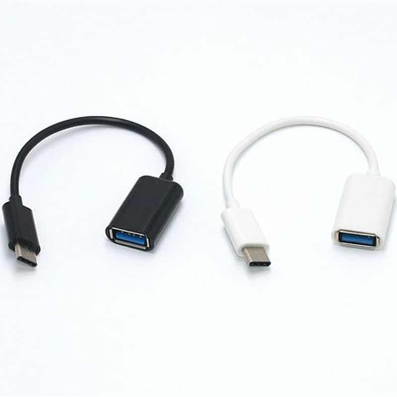 2/pièces type-c OTG câble adaptateur pour Samsung S10 S10 + Xiao mi mi 9 Android MacBook souris manette tablette PC Type C OTG USB câble