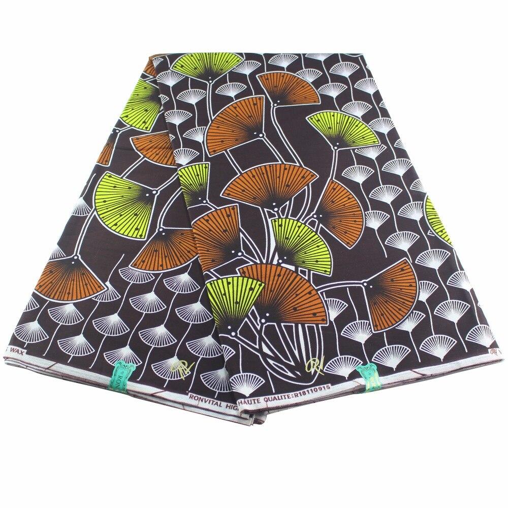 New Wedding Bazin Printed DIY Sewing Cloth African Dutch Cotton Wax Fabrics