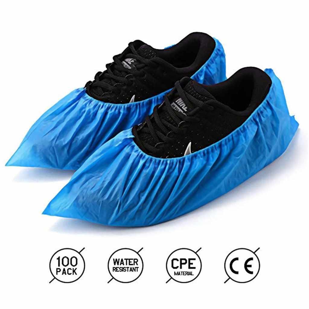 20 Bao Giày Xả Kho-100 Gói (50 Đôi) dùng Một Lần Giày & Khởi Động Có Chống Trơn Trượt Cao Su Mưa Khởi Động Trên Giày