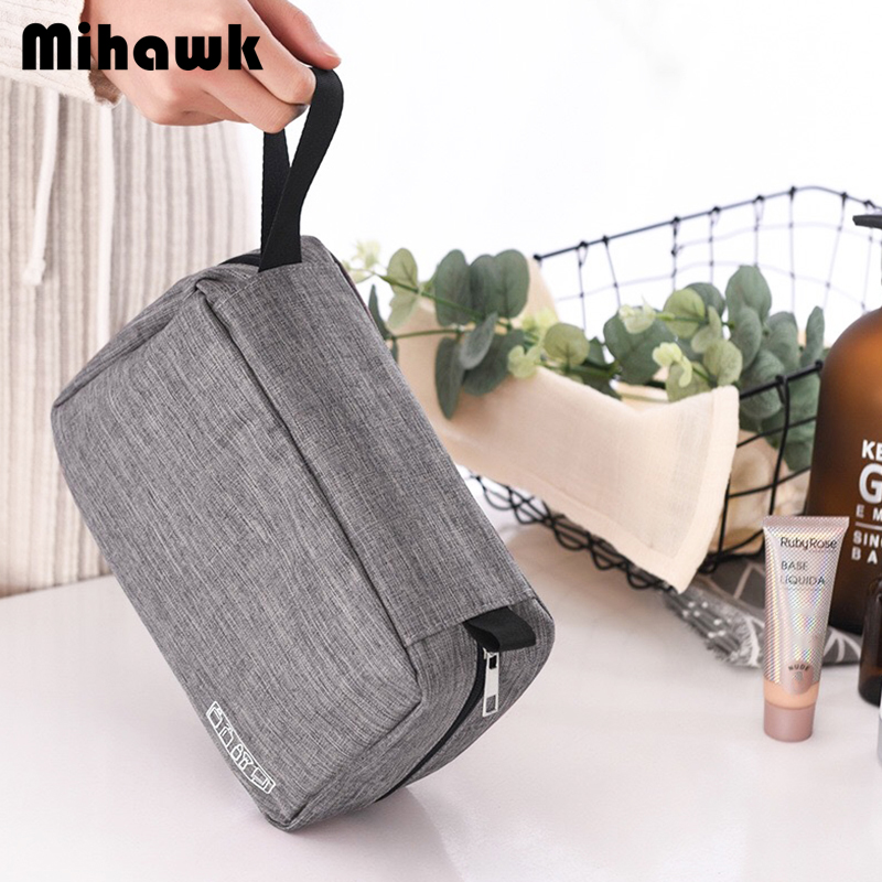 Mihawk Waterproof Hanging Toiletry Bag Womens Beauty Case Makeup Brush Pouch Foldable Bathroom Make Up Cosmetic Tote Accessories