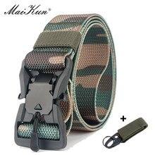Maikun нейлоновые пояса для мужчин, ремень с металлической пряжкой, открытый охотничий ремень, военный инвентарь, боевой тактический Мужской ремень