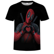 2020 3D Color Printing Wade Winston Wilson Deadpool Women Men Top clothes Casusl Fashion Summer O-Neck T-shirt