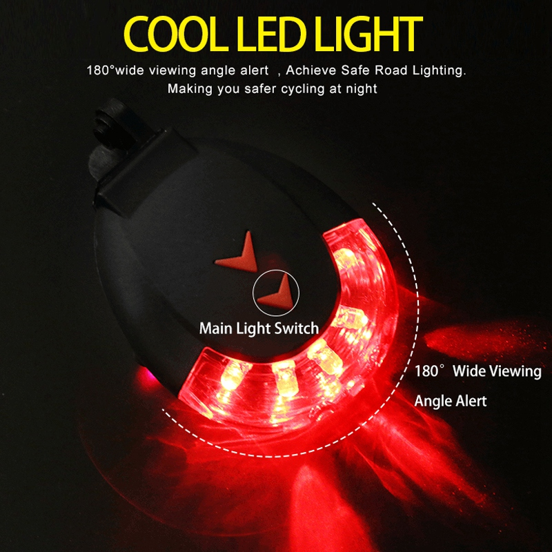 5LED Bicycle Cycling Parallel Line Gypsophila Safety Warning Lights For MTB Bike