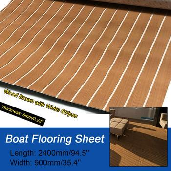 Self-Adhesive Foam Teak Decking EVA Marine Flooring Faux Boat Sheet Accessories 900x2400x6mm