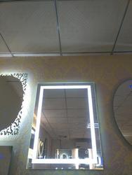 40*24 см встроенный светильник с полоской, сенсорный светодиодный Зеркало для ванной, Серебряное водонепроницаемое IP67 зеркало для ванной ком...