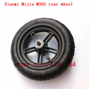 Image 2 - 8 1/2x2 tyre Pneumatic tire Inner Tube with alloy hub kit for Xiaomi Mijia M365 Electric Scooter Special purpose rear wheels