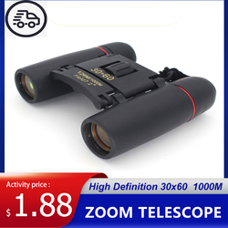 Zoom Telescope Binoculars 30x60 Waterproof Folding With Low Light Night Vision For Outdoor Bird Watching Hunting Camping 1000M