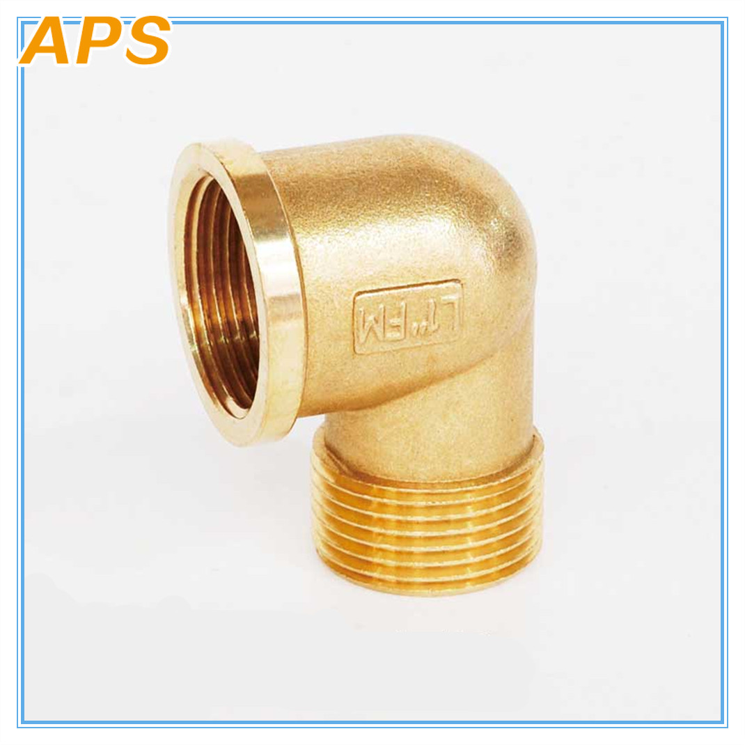 Brass Elbow Pipe Fitting 1/8