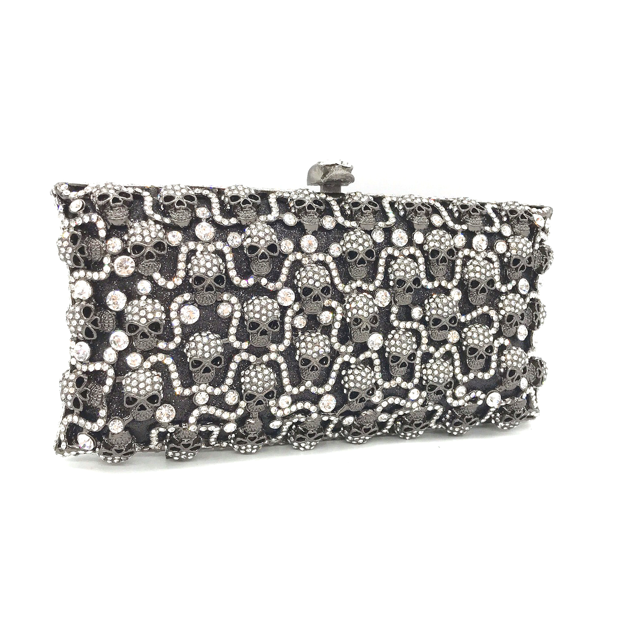 Bag For Women Luxury Three-Dimensional Black Skull Evening Dress Bag Ladies Party Hand Makeup Coin Purse-BeeInFly