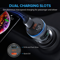 USB Car Charger Bluetooth FM Transmitter Car Chargers