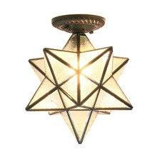 Американская пентаграмма входной свет коридор балкон потолочный светильник спальня столовая креативная звезда стеклянная лампа