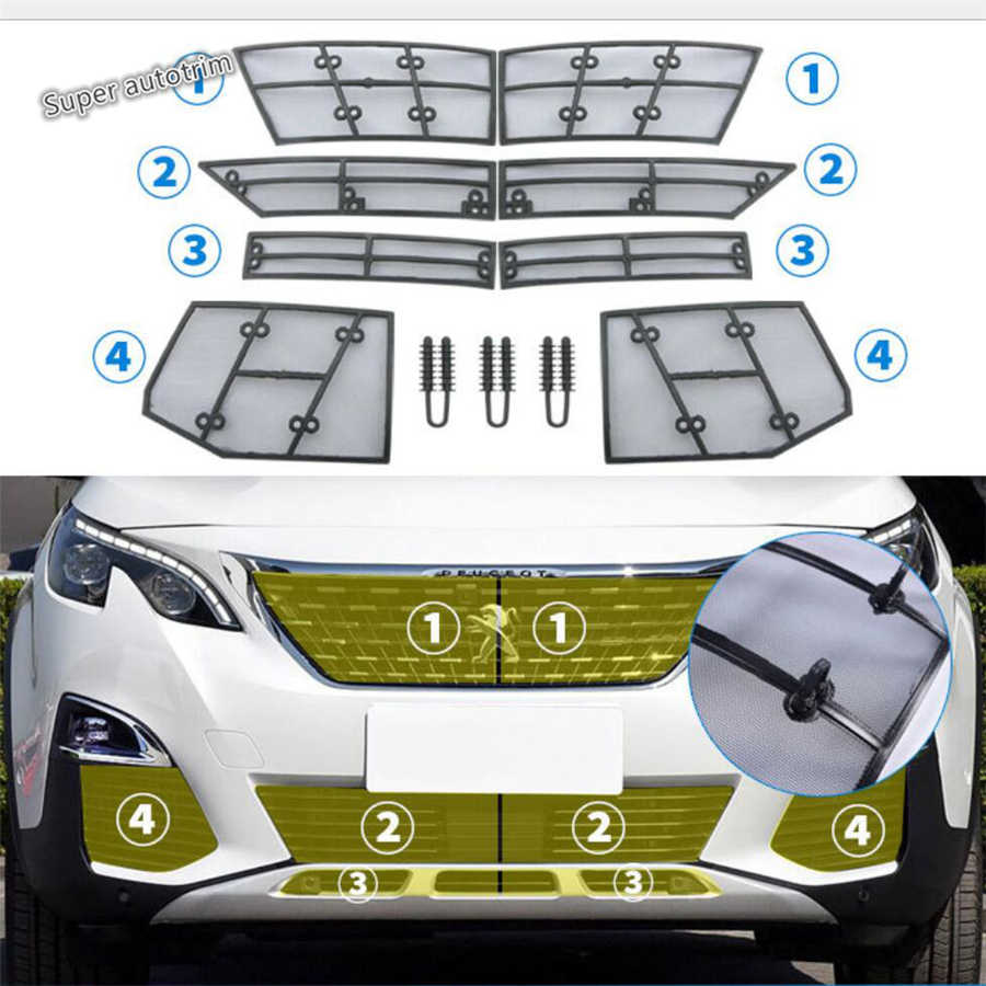 Lapetus Grille Insect Screening Mesh Insert Netto Cover Trim Accessoires Exterieur Fit Voor Peugeot 3008 3008GT 2017 - 2020