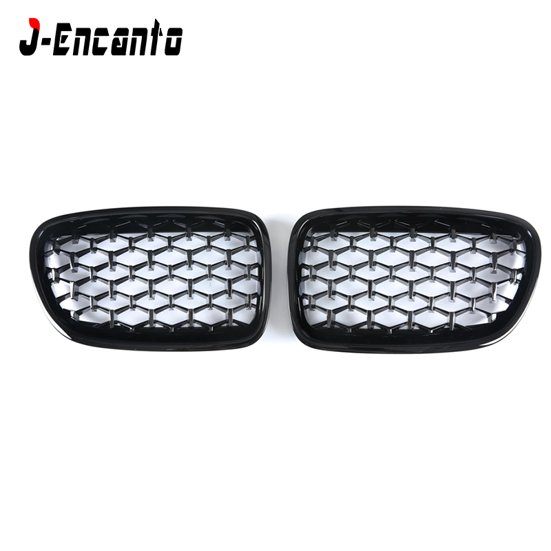 A pair New diamond style Front Kidney Grille For <font><b>BMW</b></font> 5 series <font><b>GT</b></font> <font><b>F07</b></font> 530d 535i 550i Grille Front <font><b>Bumper</b></font> Grill Car Styling 2010 image