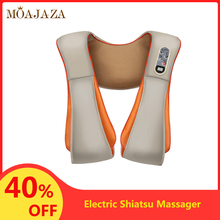 Electric Shiatsu Massager for Back Shoulder Body Neck Kneading Infrared Heating Massage Shawl U Shape Car/Home Massagem Relax