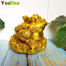 Bronze brass three-legged money frog traditional Chinese feng shui ornaments lucky gift opening