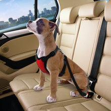 4 Colors Pet Dog Car Seat Harness And Leash Safety Vehicle Leads Belt For Small Medium Large PET Travel Supplie