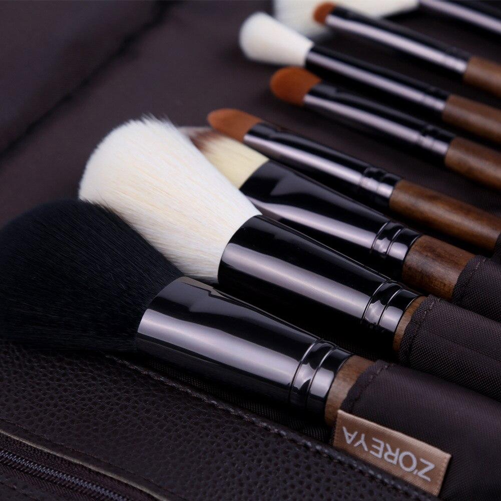 Msq 10 шт. набор кистей для макияжа Косметическая Пудра Тени для век основа для макияжа медный наконечник инструмент для макияжа с магнитным ч... - 5