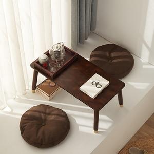 Японский стиль татами чайный столик простая деревянная мебель для дома Твердый Деревянный Антикварный Маленький журнальный столик эрквит...