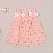 2021Baby Girl\u2019s Casual Suspender Short Dress Sweet Little Flower Bow A-line Princess Dress Clothes