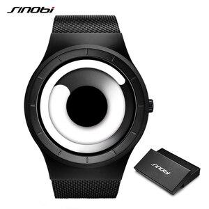 Image 1 - SINOBI Reloj único Vortex Concept para hombre, acero inoxidable 316L, banda de Milán, deportivo, de pulsera, negro