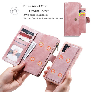 Image 3 - Luxury Detach Wallet For Samsung Note20Ultra Leather Flip Case For Samsung Galaxy S8 S9 S10 E 5G Note 8 9 10 + Plus Phone Cover