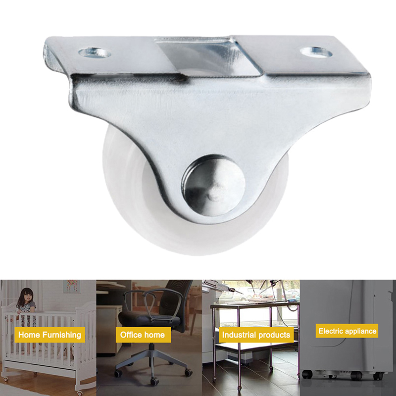 Trilho branco rodízios fixos pequeno 1-way roda móveis de plástico direcional roda resistente ao desgaste yu-casa-1