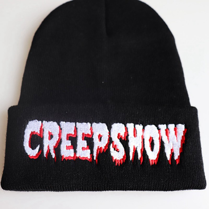 Fashion Knitted Hat CREEPSHOW Embroidered Cap Warm Pullover Ski Hat Unisex Beanie Autumn And Winter Outdoor Hat