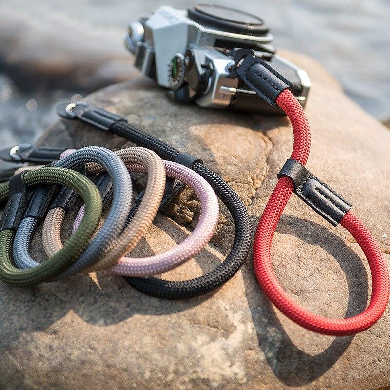 Handmade Nylon Digital Camera Wrist Hand Strap Grip Paracord Braided Wristband For Fuji X-T20 X-T1 X-T2 X-E3 X-T10 X-H1 X-A2