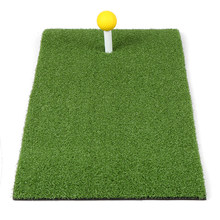 24x12IN Residential Golf Hitting Mat Golf Swing Pad Backyard Practice Golf Training Turf Rubber Tee Holder 6 Foam Bll Included(China)