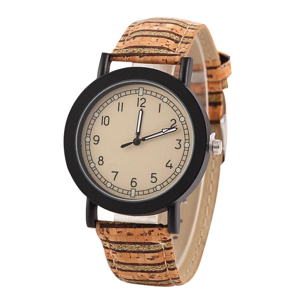 Top Luxury Couple Watch Women Watches Retro Unisex Stripe Flower Round Dial Arabic Numbers Analog Quartz Wrist Watch парные часы