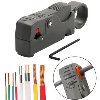 1pc automatyczne szczypce do obcinania szczypce do zdejmowania izolacji narzędzie wielofunkcyjne szczypce do zaciskania narzędzia kablowe ściągacz do kabli szczypce do dekrustacji tanie i dobre opinie DIDIHOU CN (pochodzenie) Elektryczne STAINLESS STEEL Proste Niemiecki Wire Stripper Izolowane Szczypce do ściągania izolacji