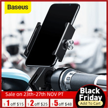 Baseus bisiklet telefon tutucu iPhone 11 X XS Samsung S9 S10 360 derece rotasyon montaj braketi hava motosiklet telefon tutucu
