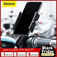 Baseus titular do telefone da bicicleta para o iphone 11 x xs samsung s9 s10 360 graus rotação suporte de montagem suporte do telefone da motocicleta aérea