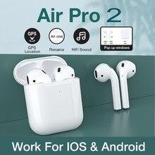 Airpoddings 2 controle de toque sem fio fone ouvido bluetooth esporte fones para huawei iphone oppo xiaomi tws música