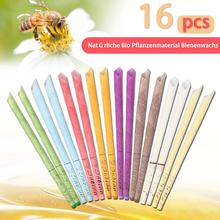 16pcs Ear Candle Coning Beewax Therapy Straight Wax Removal Ear