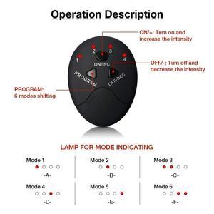 Image 3 - EMS kablosuz kas stimülatörü eğitmen akıllı spor karın eğitim elektrikli kilo kaybı çıkartmalar vücut zayıflama masajı