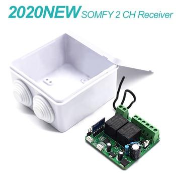 AC/DC 12V/24V SOMFY rolling code 433.42mhz 2 channel receiver for SOMFY Telis 4 RTS Somfy Telis 4 Soliris RTS 2 receiver привод для откатных ворот somfy freevia 600 комплект