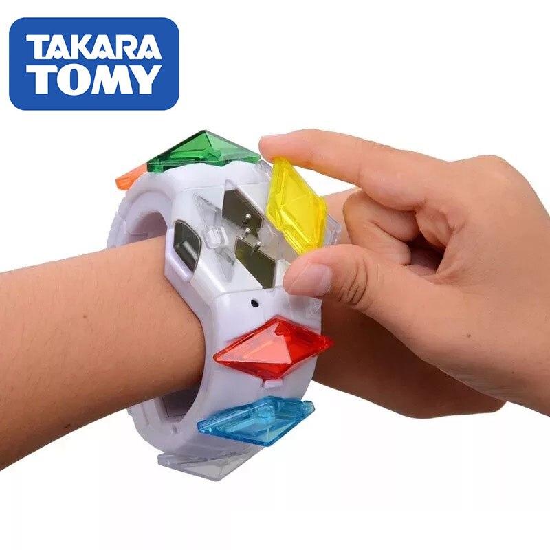 TOMY Pokemon Action Figure Model Sun Moon Game Linkage 4D Somatosensory Z Bracelet Z Crystal Kids Christmas Gift Toys