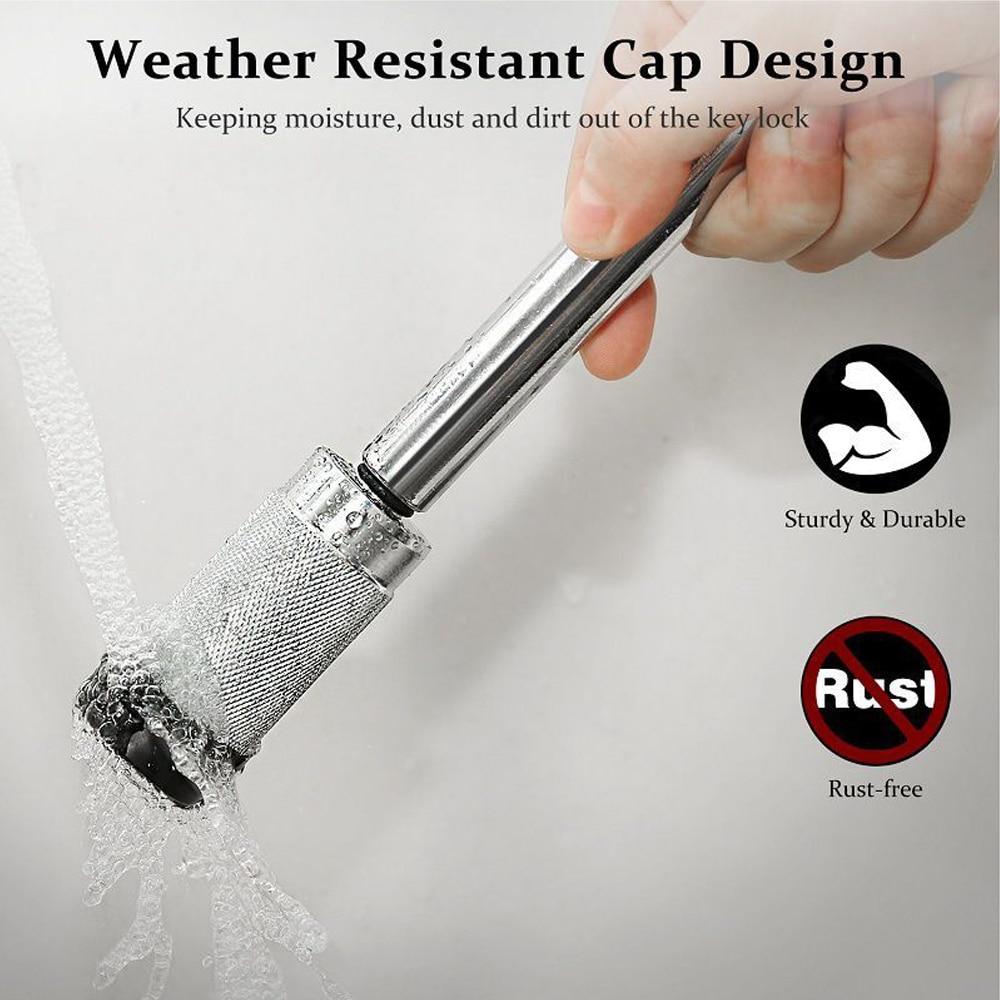 Waterproof  Trailer hook 5/8'' Car Back Trailer Locking Hitch Pin with Double Keys Rubber Cap Lock Kit 5/8 Inch for Trailer