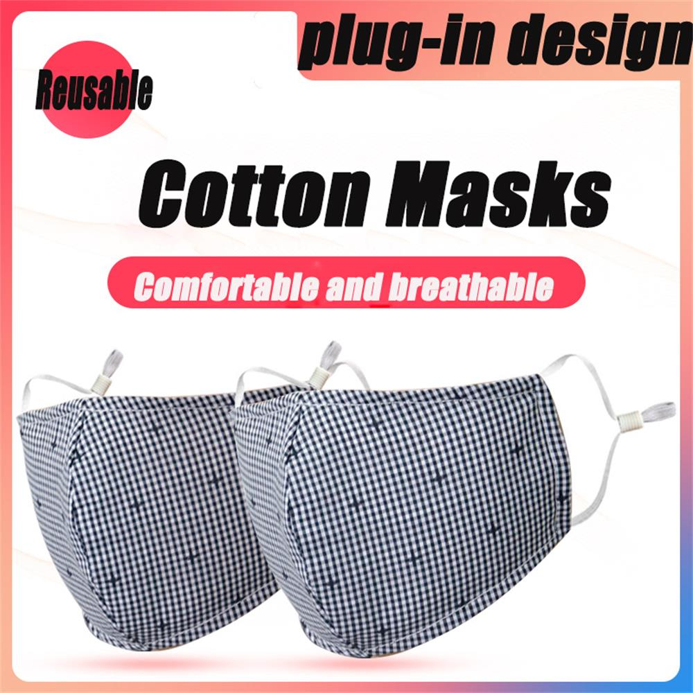 2PCS Mouth Mask Cotton Anti Fog Anti Haze Dust Mask Outdoor Windproof Earloop Mouth-muffle Mask