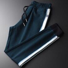 Minglu pantalon de Sport pour hommes de luxe, avec broderie, grande taille 4xl, coupe Slim, automne et hiver, décontracté