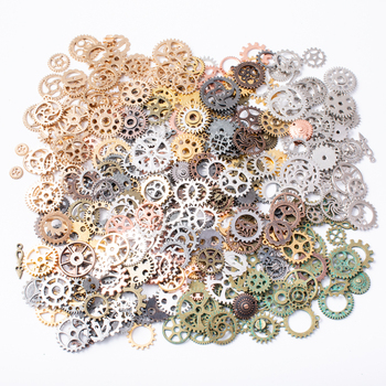 100g hot sale mixed 20-60 kinds of steampunk gear pendants and cog jewelry for making - discount item  50% OFF Jewelry Making