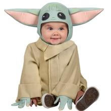 The Mandalorian  Baby Yoda Cosplay Costume Child Coat Robe Movie Cosplay Suit