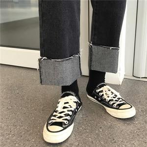 Image 5 - Jeans Vrouwen Zwart Alle Match Volledige Lengte Womens Koreaanse Stijl Dagelijkse Hoge Kwaliteit Straight Casual Hot Koop Famales Broek