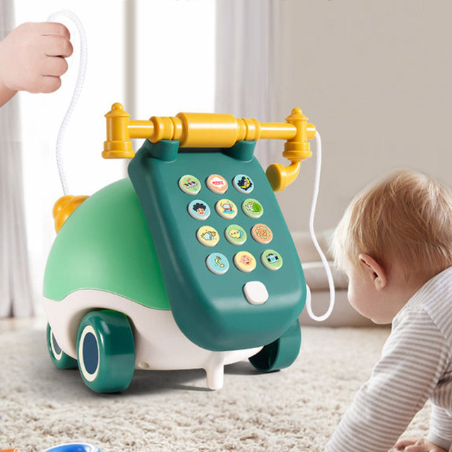 Montessori Baby Toy Phone Toddler Educational Musical Toy for Babies Boys 1 Year Kids Mobile Phone Child Music Phone 0 12 Months 2