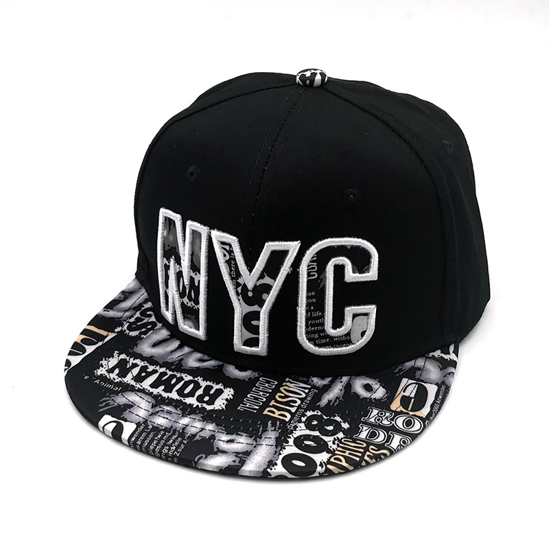 2019 Embroidery letter <font><b>NYC</b></font> baseball caps Graffiti women men hip hop snapback caps youth flat brim gorras outdoor hats image