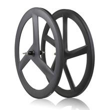 цена на 2020 New Carbon Wheelset Tubular 40mm Wheels Clincher Wheels 3k Road bike 3/5 knife wheel Free Shipping
