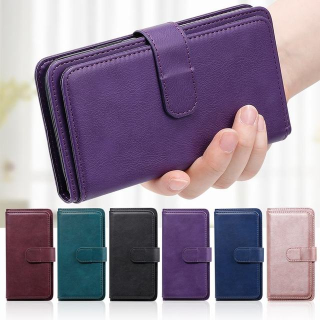 Luxury Cover For Xiaomi Redmi Note 8 Pro Case Flip Wallet Cover For Redmi Note 8 Case Leather Card Slots Holders Phone Bags Capa
