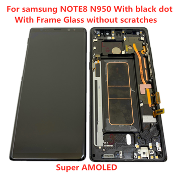 Original AMOLED With Frame For Samsung Galaxy NOTE 8 LCD  N950A N950U N950F N950V Display Touch Screen Assembly With Black Dots