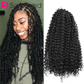 Самкоса страсть Весна Твист волос 18 дюймов синтетические плетеные волосы для наращивания Омбре крючком косы для женщин черный коричневый